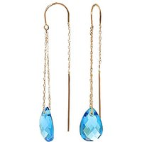 Blue Topaz Scintilla Earrings 6 ctw in 9ct Gold - Jewellery Gifts