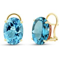 Blue Topaz Stud Earrings 16 ctw in 9ct Gold