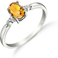 Citrine and Diamond Allure Ring in 9ct White Gold
