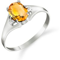Citrine and Diamond Desire Ring in 9ct White Gold