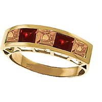 Citrine & Garnet Prestige Ring in 9ct Gold - Fashion Gifts