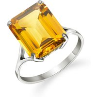 Citrine Auroral Ring 6.5 ct in 9ct White Gold