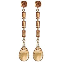 Citrine Cairo Drop Earrings 8.6 ctw in 9ct Gold - Jewellery Gifts