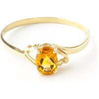 Citrine Classic Desire Ring 0.9 ct in 9ct Gold - Fashion Gifts