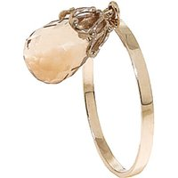 Citrine Crown Ring 3 ct in 9ct Gold - Fashion Gifts