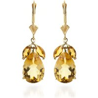 Citrine Drop Earrings 13 ctw in 9ct Gold - Jewellery Gifts