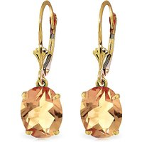 Citrine Drop Earrings 6.25 ctw in 9ct Gold - Jewellery Gifts