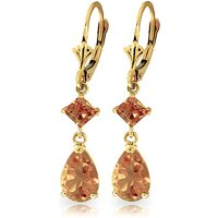 Citrine Droplet Earrings 4.5 ctw in 9ct Gold - Jewellery Gifts