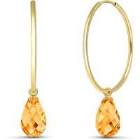 Citrine Halo Earrings 4.5 ctw in 9ct Gold