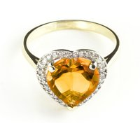 Citrine Halo Ring 3.24 ctw in 18ct Gold