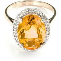 Image of Citrine Halo Ring 5.28 ctw in 18ct Rose Gold