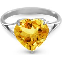 Image of Citrine Large Heart Ring 3.1 ct in 18ct White Gold