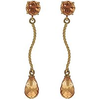 Citrine Lure Drop Earrings 4.3 ctw in 9ct Gold - Jewellery Gifts