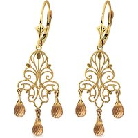 Citrine Mirage Drop Earrings 3.75 ctw in 9ct Gold - Jewellery Gifts