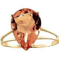 Citrine Pear Drop Ring 5 ct in 9ct Gold - Fashion Gifts