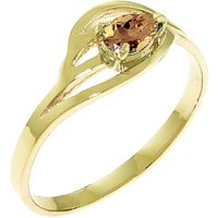 Citrine Pear Strand Ring 0.3 ct in 9ct Gold - Fashion Gifts