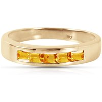 Citrine Princess Prestige Ring 0.6 ctw in 9ct Gold - Fashion Gifts