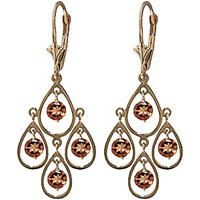 Citrine Quadruplo Milan Drop Earrings 2.4 ctw in 9ct Gold - Jewellery Gifts
