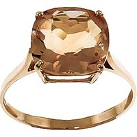 Citrine Rococo Ring 3.6 ct in 9ct Gold - Fashion Gifts