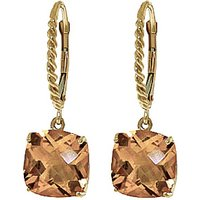 Citrine Rococo Twist Drop Earrings 7.2 ctw in 9ct Gold - Cushion Gifts