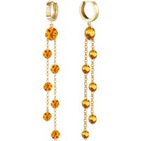 Citrine Roman Drop Earrings 9.02 ctw in 9ct Gold - Jewellery Gifts