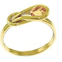 Citrine San Francisco Ring 0.65 ct in 9ct Gold - Fashion Gifts