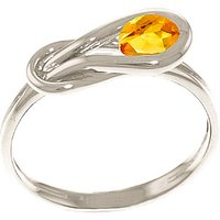 Citrine San Francisco Ring 0.65 ct in 9ct White Gold
