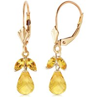 Citrine Snowdrop Earrings 3.4 ctw in 9ct Gold