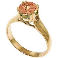 Citrine Solitaire Ring 1.1 ct in 9ct Gold - Fashion Gifts