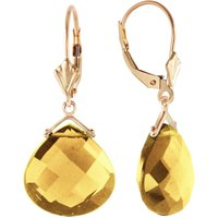 Citrine Star Drop Earrings 17 ctw in 9ct Gold