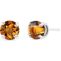Citrine Stud Earrings 0.95 ctw in 9ct White Gold - Classic Gifts