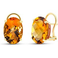 Citrine Stud Earrings 12 ctw in 9ct Gold