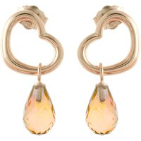 Citrine Stud Earrings 4.5 ctw in 9ct Rose Gold