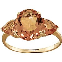 Citrine Three Stone Ring 3.5 ctw in 9ct Gold - Fashion Gifts
