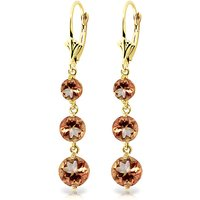 Citrine Trinity Drop Earrings 7.2 ctw in 9ct Gold - Jewellery Gifts