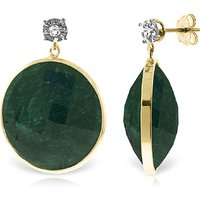 Corundum Stud Earrings 46.06 ctw in 9ct Gold - Qp Jewellers Gifts