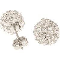 Cubic Zirconia Paris Stud Ball Earrings 4 ctw in 9ct White Gold - Paris Gifts