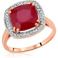 Cushion Cut Ruby Ring 6.9 ctw in 9ct Rose Gold