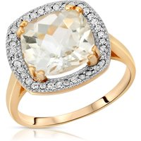 Cushion Cut White Topaz Ring 5.2 ctw in 9ct Gold