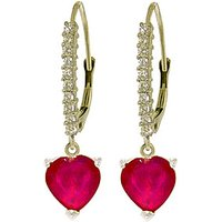 Diamond & Ruby Laced Drop Earrings in 9ct White Gold - Love Gifts