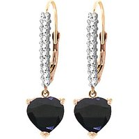 Diamond & Sapphire Laced Drop Earrings in 9ct Rose Gold - Love Gifts