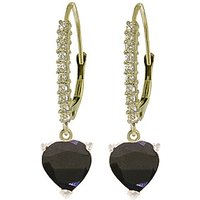 Diamond & Sapphire Laced Drop Earrings in 9ct White Gold - Love Gifts