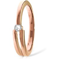 Diamond Channel Set Ring 0.1 ct in 18ct Rose Gold