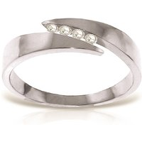 Diamond Channel Set Ring 0.12 ctw in 18ct White Gold