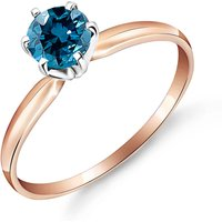 Diamond Crown Solitaire Ring 0.5 ct in 9ct Rose Gold