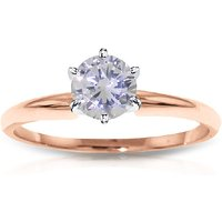 Diamond Solitaire Ring 1 ct in 9ct Rose Gold