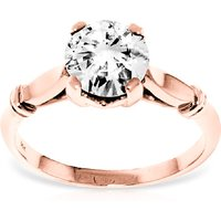 Diamond Solitaire Ring 1 ct in 18ct Rose Gold
