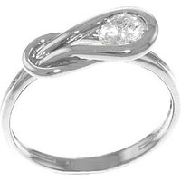 Diamond Twist Ring 0.5 ct in 9ct White Gold