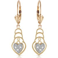 Image of Diamond Wireframe Drop Earrings 0.03 ctw in 9ct Gold