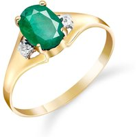 Emerald and Diamond Desire Ring in 9ct Gold